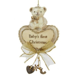 babys first christmas bear ornament