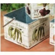 Large Square Metal Vegetable Container Thumbnail