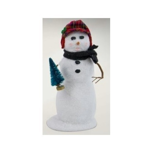 BYE Lg Snowman w/Plaid Hat Thumbnail