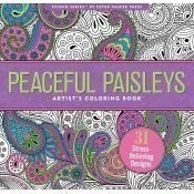 Peaceful Paisleys Artist's Coloring Book Thumbnail