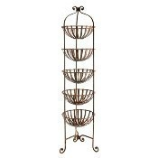 Iron Five-Basket Rack - Rust Lacquer Thumbnail