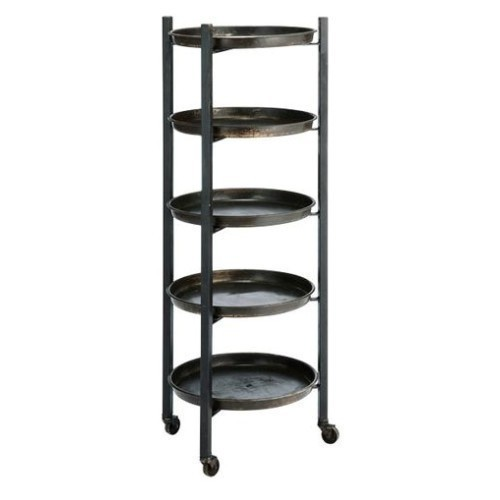 Fall Iron Round Shelf Display with 5 Trays Thumbnail