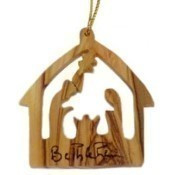 Olive Wood Stable Ornament Thumbnail