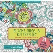 Blooms Birds Butterflies Coloring Book Thumbnail