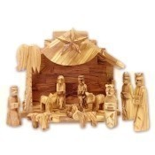 Olive Wood Silent Night Musical Nativity Thumbnail