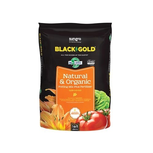 Black Gold Natural Organic Potting Soil 8 qt Thumbnail