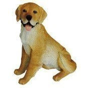Sitting Golden Retriever Statue Thumbnail