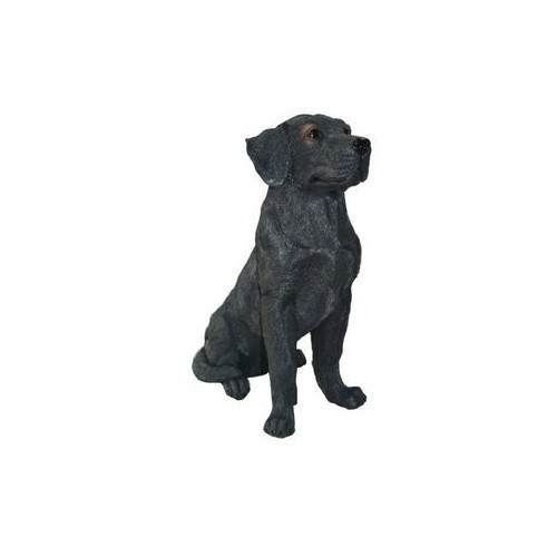 Sitting Black Lab Statue Thumbnail