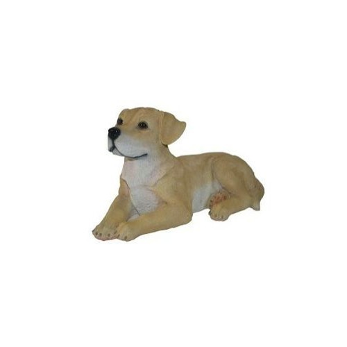 Laying Yellow Lab Statue Thumbnail