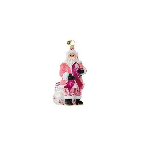 Breast Cancer Santa Ornament Thumbnail