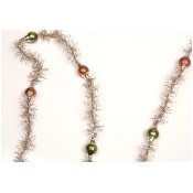 Tinsel with Red & Green Bead Garland Thumbnail