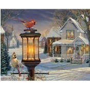 Cardinals in Winter Jigsaw Puzzle Thumbnail