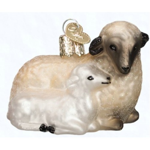 Sheep with Lamb Ornament Thumbnail