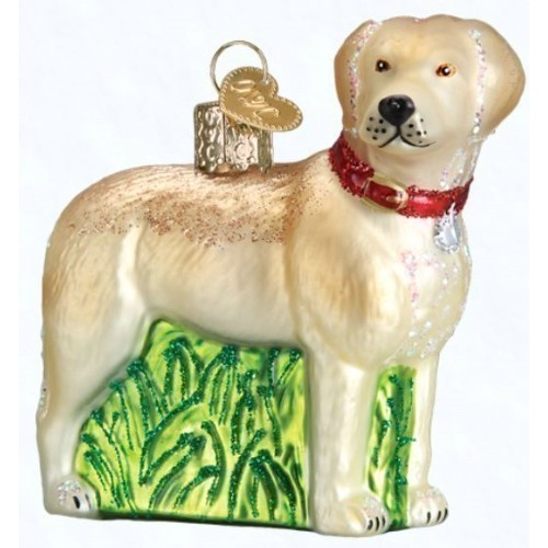 Standing Yellow Lab Ornament Thumbnail