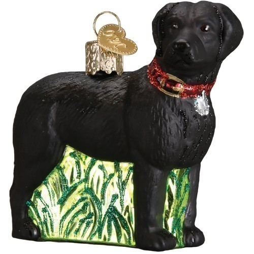 Standing Black Lab Ornament Thumbnail