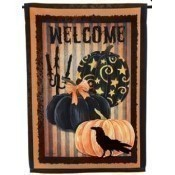 Welcome Halloween Pumpkins Garden Flag Thumbnail