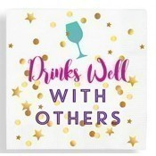 Drinks Well With Others Beverage Napkins Thumbnail