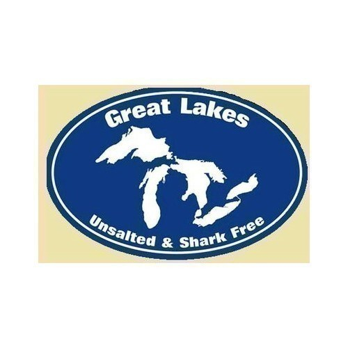 Great Lakes Unsalted & Shark Free Sticker Thumbnail