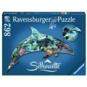 Dolphin Puzzle - 862 Shaped Pieces Thumbnail