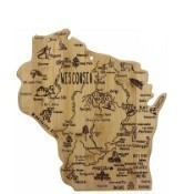 Destination Wisconsin Cutting Board Thumbnail
