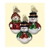 Old World Christmas - Happy Snowman Ornament Thumbnail