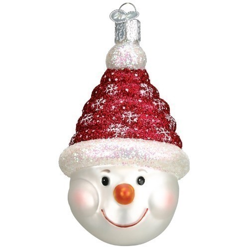 Old World Glistening Candy Coil Snowman Thumbnail