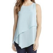 Asymmetric Layered Top - Light Blue Thumbnail