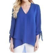 Crossover Tie Sleeve Top - Iris Thumbnail
