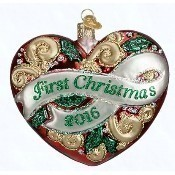 2016 First Christmas Heart Ornament Thumbnail