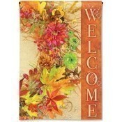 Autumn Wreath Garden Flag Thumbnail
