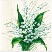Sweet White Bells Lunch Napkins Thumbnail