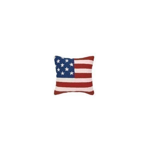 American Flag Red, White & Blue Hook Pillow Thumbnail