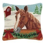 Holiday Horse Pillow Thumbnail