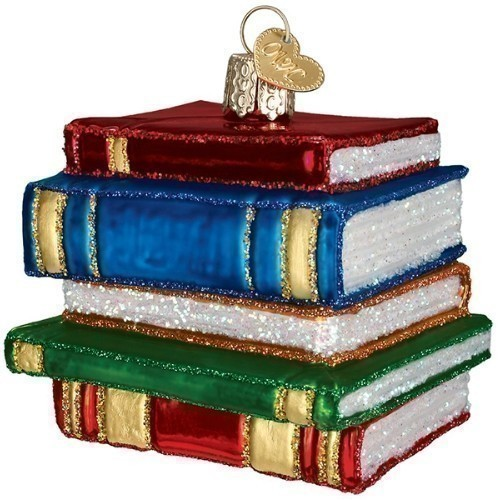 Stack of Books Ornament Thumbnail