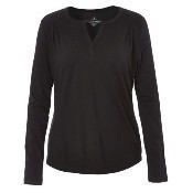 Merinolux Henley Top - Black Thumbnail