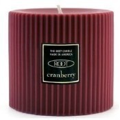 Grecian Pillar Candle - Cranberry Thumbnail