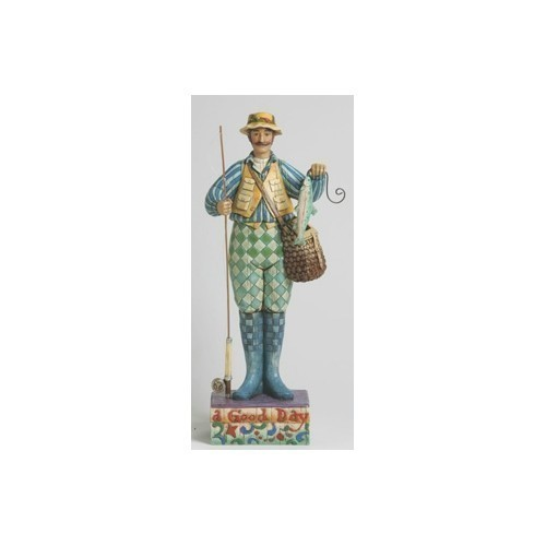 Jim Shore Fly Fisherman Figurine Thumbnail