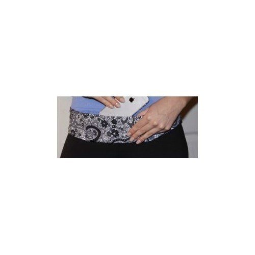 Black Paisley Classic Pocket Belt Thumbnail