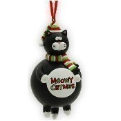 Meowy Cat Hanging Ornament Thumbnail
