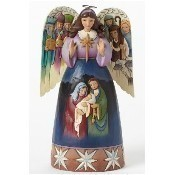 Nativity Angel with Sculpted Wings Thumbnail