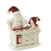 Baking In Kitchen With Santa Figurine Thumbnail