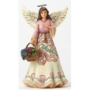 Mother Angel with Flower Basket Figurine Thumbnail
