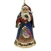 Away in a Manger Santa Ornament Thumbnail