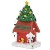 Christmas Dog House Figurine Thumbnail