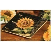 French Sunflowers Salad Plate Thumbnail
