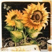 French Sunflowers Square Platter Thumbnail