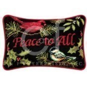Peace To All Needlepoint Pillow Thumbnail