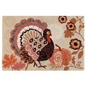 Hooked Rug, Pumpkin Patch Rooster Thumbnail