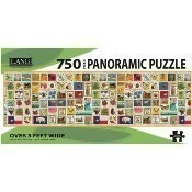 Stamp Collection Panoramic Puzzle Thumbnail
