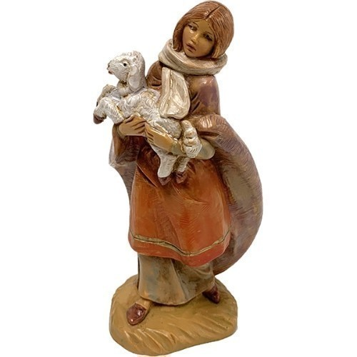 Emma the Shepherdess and Lamb Figurine Thumbnail